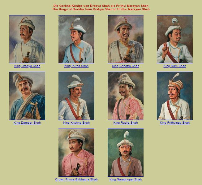 Kings of Gorkha Nepal